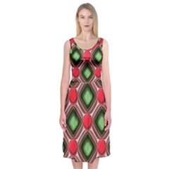 Gem Texture A Completely Seamless Tile Able Background Design Midi Sleeveless Dress