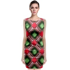 Gem Texture A Completely Seamless Tile Able Background Design Classic Sleeveless Midi Dress