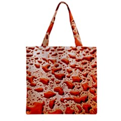 Water Drops Background Zipper Grocery Tote Bag