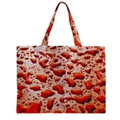Water Drops Background Zipper Mini Tote Bag