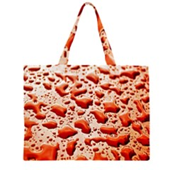 Water Drops Background Large Tote Bag