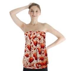 Water Drops Background Strapless Top