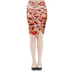 Water Drops Background Midi Wrap Pencil Skirt