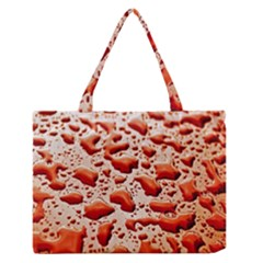 Water Drops Background Medium Zipper Tote Bag