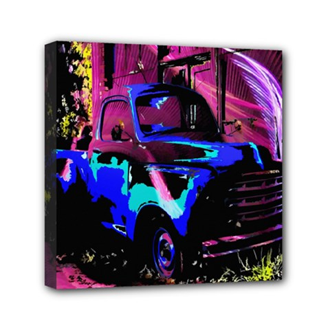 Abstract Artwork Of A Old Truck Mini Canvas 6  x 6