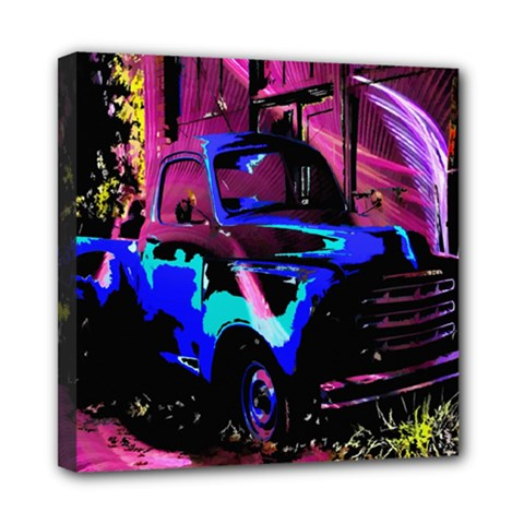 Abstract Artwork Of A Old Truck Mini Canvas 8  X 8
