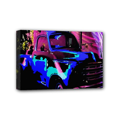 Abstract Artwork Of A Old Truck Mini Canvas 6  X 4