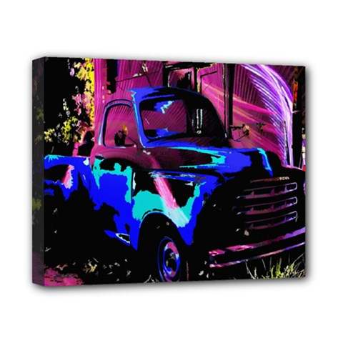 Abstract Artwork Of A Old Truck Canvas 10  x 8