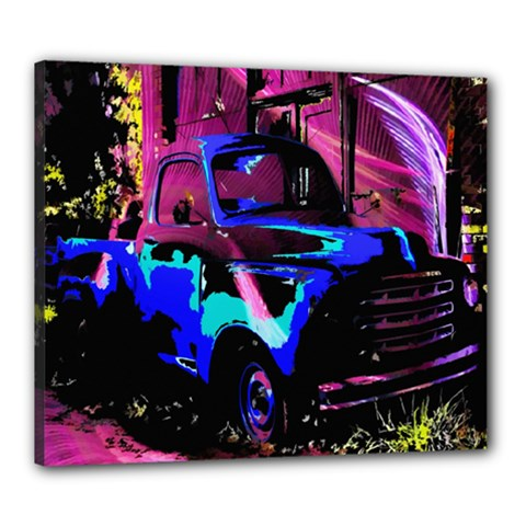 Abstract Artwork Of A Old Truck Canvas 24  x 20