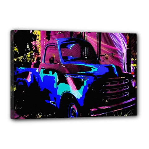 Abstract Artwork Of A Old Truck Canvas 18  x 12