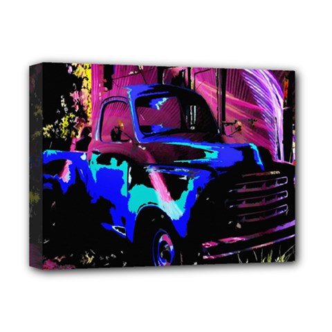 Abstract Artwork Of A Old Truck Deluxe Canvas 16  x 12