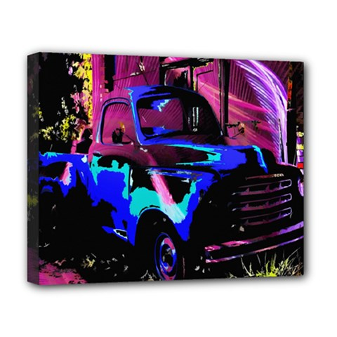 Abstract Artwork Of A Old Truck Deluxe Canvas 20  x 16