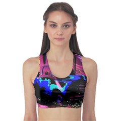 Abstract Artwork Of A Old Truck Sports Bra