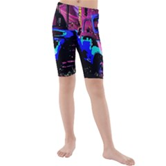 Abstract Artwork Of A Old Truck Kids  Mid Length Swim Shorts