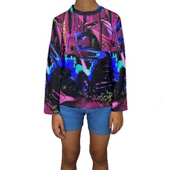 Abstract Artwork Of A Old Truck Kids  Long Sleeve Swimwear