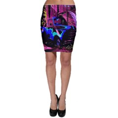 Abstract Artwork Of A Old Truck Bodycon Skirt
