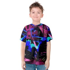 Abstract Artwork Of A Old Truck Kids  Cotton Tee
