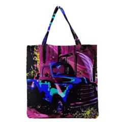 Abstract Artwork Of A Old Truck Grocery Tote Bag
