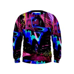 Abstract Artwork Of A Old Truck Kids  Sweatshirt