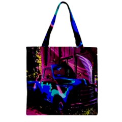 Abstract Artwork Of A Old Truck Zipper Grocery Tote Bag