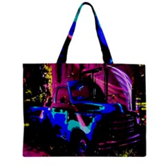 Abstract Artwork Of A Old Truck Zipper Mini Tote Bag