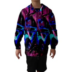 Abstract Artwork Of A Old Truck Hooded Wind Breaker (Kids)