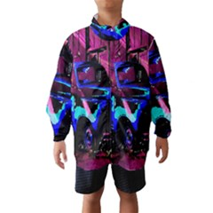 Abstract Artwork Of A Old Truck Wind Breaker (Kids)