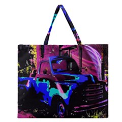 Abstract Artwork Of A Old Truck Zipper Large Tote Bag