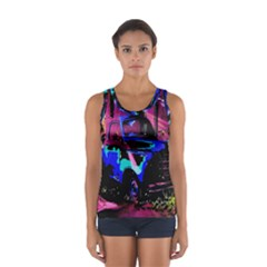 Abstract Artwork Of A Old Truck Women s Sport Tank Top