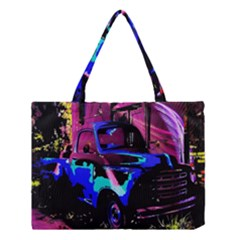 Abstract Artwork Of A Old Truck Medium Tote Bag