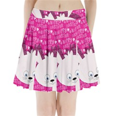 Easter bunny  Pleated Mini Skirt