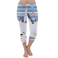 Easter bunny  Capri Winter Leggings
