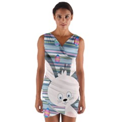 Easter bunny  Wrap Front Bodycon Dress