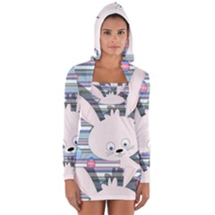 Easter bunny  Women s Long Sleeve Hooded T-shirt