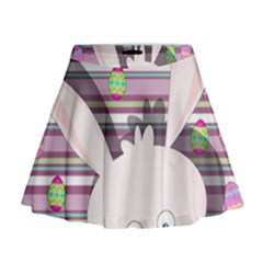 Easter bunny  Mini Flare Skirt