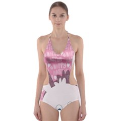 Easter bunny  Cut-Out One Piece Swimsuit