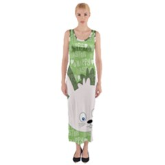 Easter bunny  Fitted Maxi Dress