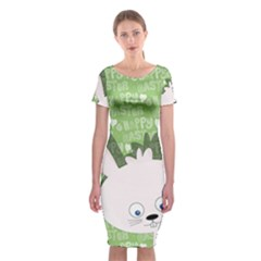 Easter bunny  Classic Short Sleeve Midi Dress