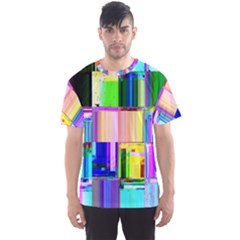 Glitch Art Abstract Men s Sport Mesh Tee