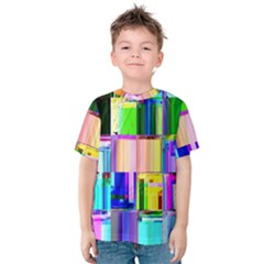 Glitch Art Abstract Kids  Cotton Tee