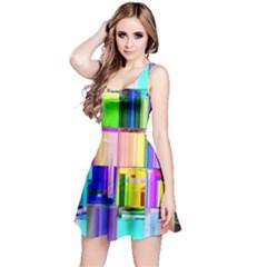 Glitch Art Abstract Reversible Sleeveless Dress