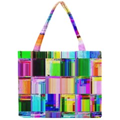 Glitch Art Abstract Mini Tote Bag