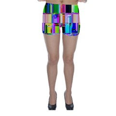 Glitch Art Abstract Skinny Shorts
