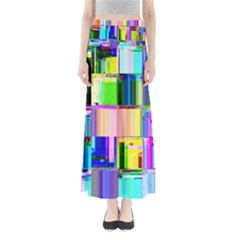 Glitch Art Abstract Maxi Skirts