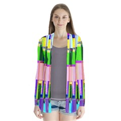 Glitch Art Abstract Cardigans