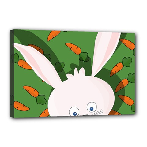 Easter bunny  Canvas 18  x 12