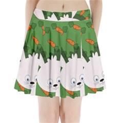 Easter bunny  Pleated Mini Skirt