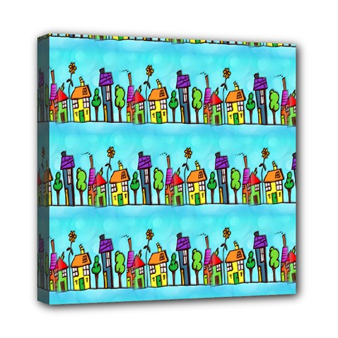 Colourful Street A Completely Seamless Tile Able Design Mini Canvas 8  x 8