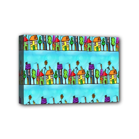 Colourful Street A Completely Seamless Tile Able Design Mini Canvas 6  x 4