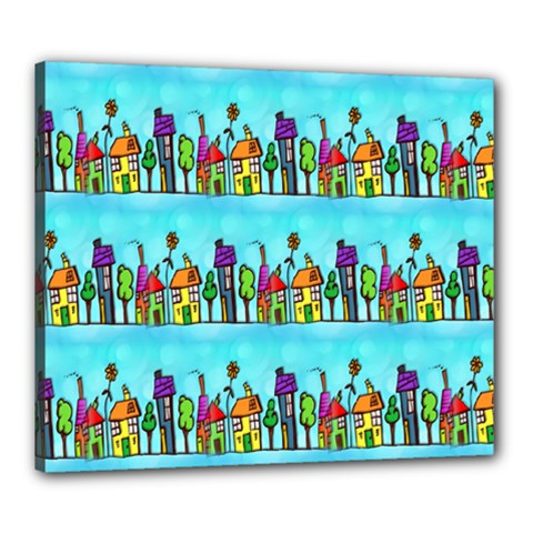 Colourful Street A Completely Seamless Tile Able Design Canvas 24  x 20